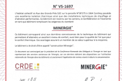 VS1697 - Label Minergie Provisoire
