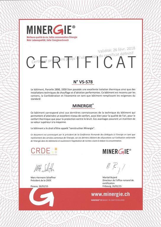 VS 578 Label Minergie provisoire
